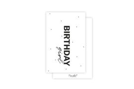 Mini-kaart | Birthday girl | 5 stuks