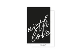 Mini-kaart | With love | 5 stuks