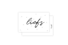 Mini-kaart | Liefs | 5 stuks