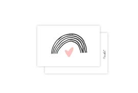 Mini-kaart | Regenboog | 5 stuks