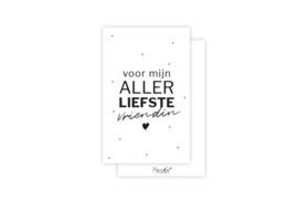 Mini-kaart   Voor mijn allerliefste vriendin   5 stuks
