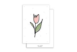 Kaart | Tulpje | 5 stuks