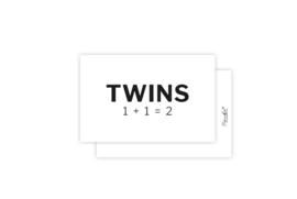 Mini-kaart | Twins | 5 stuks