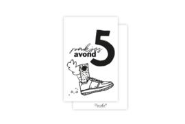 Mini-kaart | Pakjes avond | 5 stuks