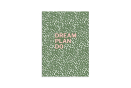 A6 Schrift | Dream plan do | 5 stuks