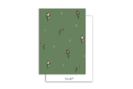 Kaart | Tulpje patroon | 5 stuks