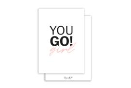 Kaart | You go girl | 5 stuks