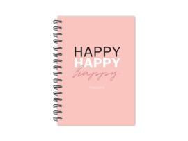 Notitieboek   Happy happy happy   3 stuks