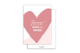 Kaart | Jaaa! jullie worden papa en mama | 5 stuks