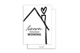 Kaart | Hoera nieuwe woning | 5 stuks