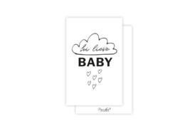 Mini-kaart | Hi lieve baby | 5 stuks