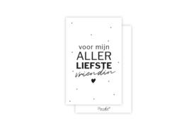 Mini-kaart | Voor mijn allerliefste vriendin | 5 stuks