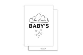 Kaart | Hi lieve baby's | 5 stuks