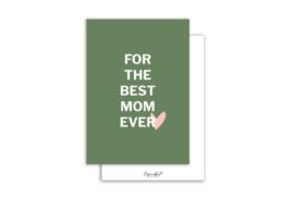 Kaart | For the best mom ever | 5 stuks