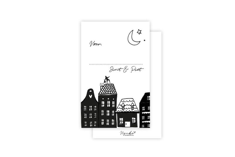 Mini-kaart | Van sint & piet | 5 stuks