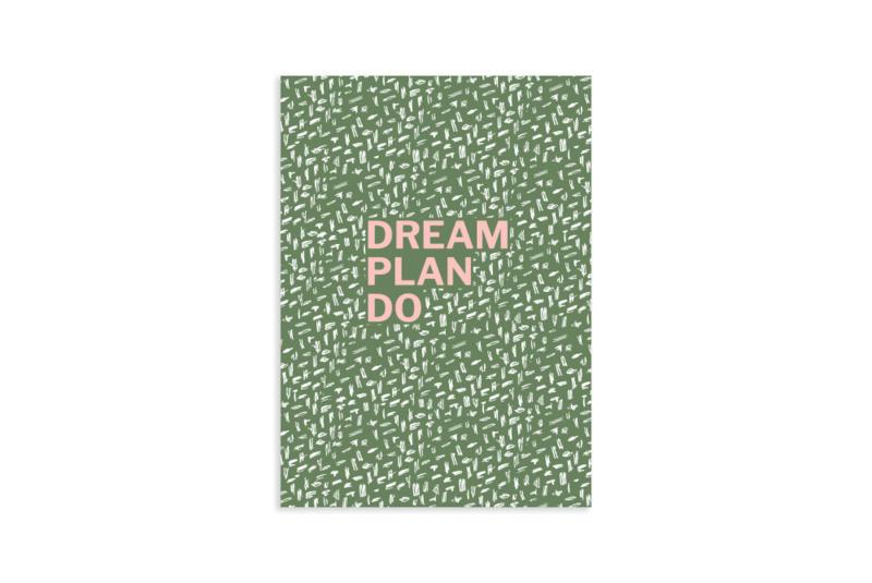 Schrift A6 | Dream plan do | 5 stuks