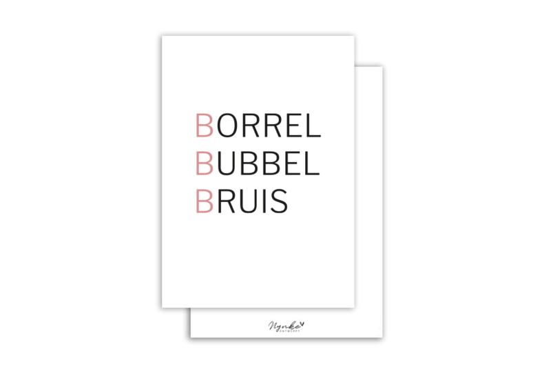 Kaart | Borrel Bubbel Bruis | 5 stuks
