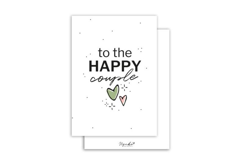 Kaart   To the happy couple   5 stuks