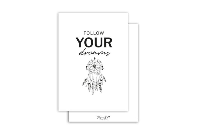 Kaart | Follow your dreams | 5 stuks