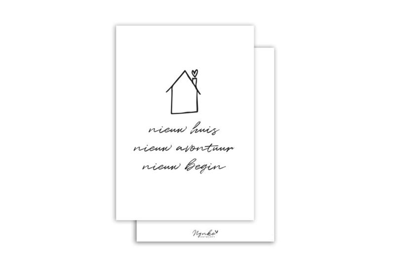 Kaart | Nieuw huis | 5 stuks