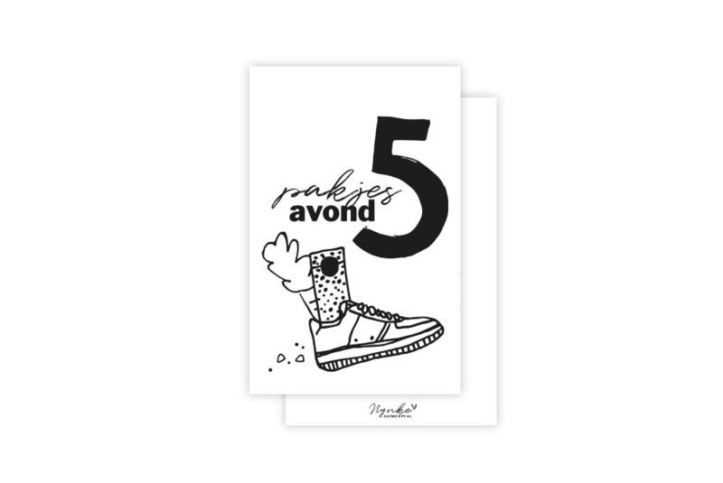 Mini-kaart   Pakjes avond   5 stuks