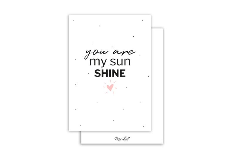 Kaart | You are my sun shine | 5 stuks