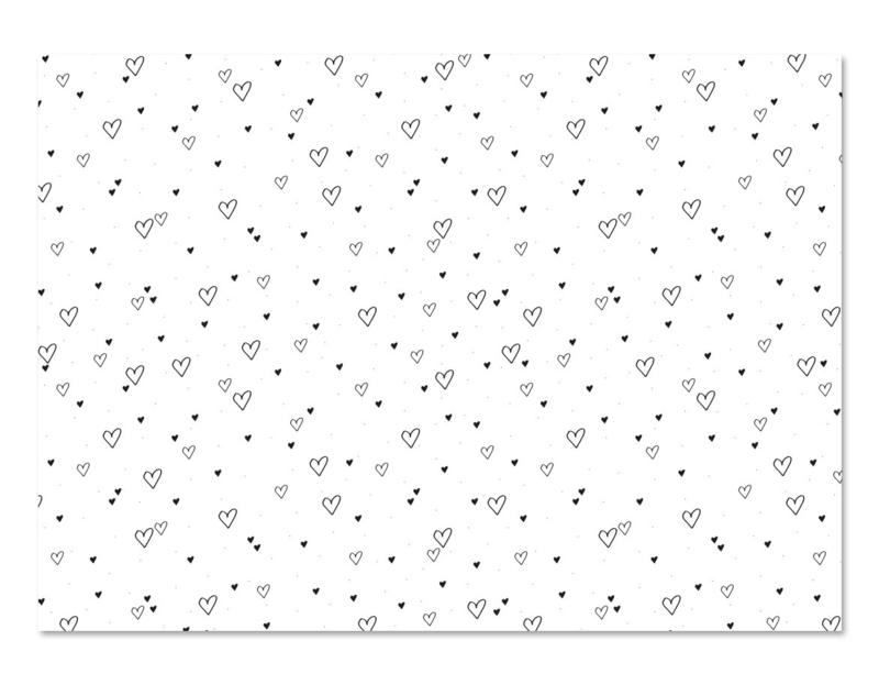 Kadopapier | Hartjes | 5 stuks