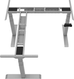 Bureau hoek onderstel zit/sta elektrisch verstelbaar Deluxe grijs