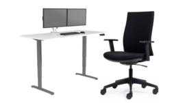 Bureau onderstel zit/sta elektrisch verstelbaar Deluxe wit
