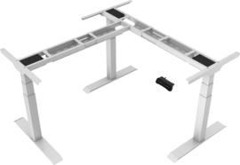 Bureau hoek onderstel zit/sta elektrisch verstelbaar Deluxe wit