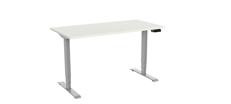 De verschillen tussen een standaard en Deluxe bureau (onderstel).