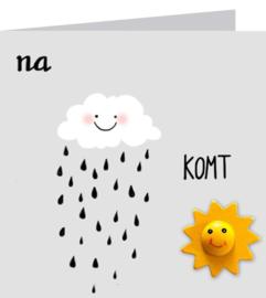 Wenskaart Na regen...