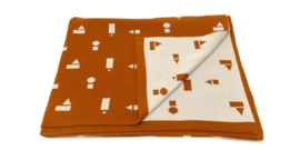 deken XL oker speelblokken