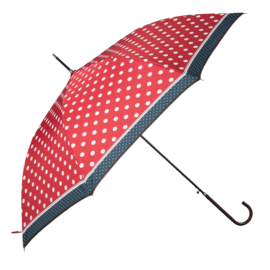 paraplu rood met witte stip