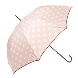 paraplu roze met witte stip