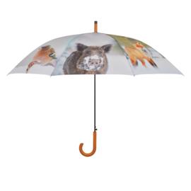 paraplu winter bosdieren