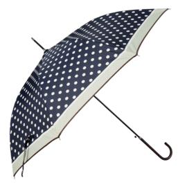 paraplu donkerblauw met witte stip