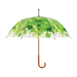 paraplu transparant bladeren