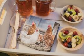 papieren servetten kippen
