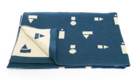 deken blauw speelblokken