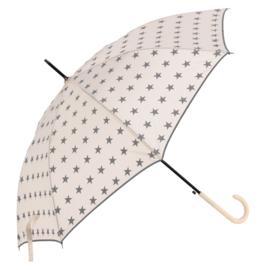 paraplu wit met grijze ster