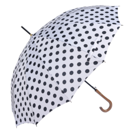 paraplu wit met zwarte stip