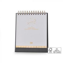 Birthday Calendar Desk Zodiac - Foil Gold