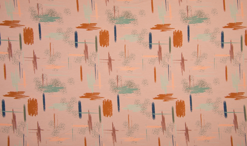 French Terry Print  Brushed