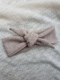 Haarbandje babyrib | beige gemêleerd