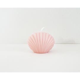 Schelpvormige kaars klein   roze