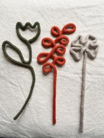 Gepunnikte bloem (per stuk)
