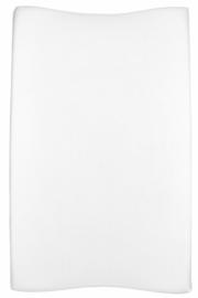 Aankleedkussenhoes Basic Jersey - Wit - 50x70cm