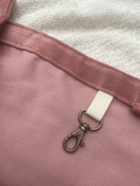 Mombag | roze velvet