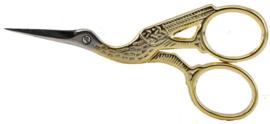 Ooievaarschaar verguld 3,5 inch